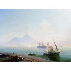 Aivazovsky Ivan | Айвазовский И. | Берег в Неаполе