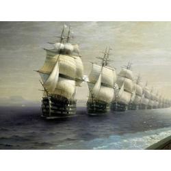 Aivazovsky Ivan | Айвазовский И. | Смотр Черноморского Флота